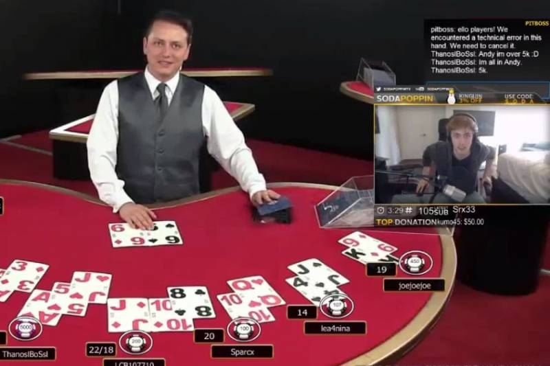 Twitch Streamer Loses $5,000 on 1 Hand in Blackjack, Goes Absolutely Nuts