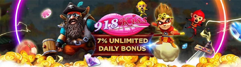 918kiss-Mega-Unlimited-7%-Daily-Bonus